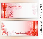 valentine's day background. | Shutterstock .eps vector #124217704