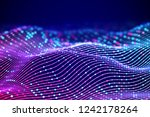 3d sound waves with colored... | Shutterstock .eps vector #1242178264