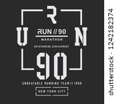 athletic sport run typography ... | Shutterstock .eps vector #1242182374