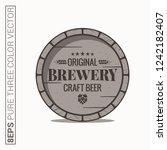 beer barrel logo. brewery craft ... | Shutterstock .eps vector #1242182407