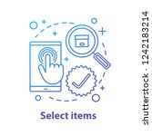 select items concept icon.... | Shutterstock .eps vector #1242183214
