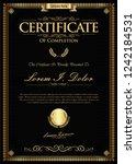 certificate or diploma retro... | Shutterstock .eps vector #1242184531