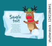 christmas poster template. cute ... | Shutterstock .eps vector #1242186841