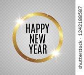 abstract magical glowing golden ... | Shutterstock .eps vector #1242188587