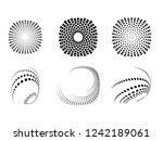 lines in circle form . spiral... | Shutterstock .eps vector #1242189061