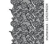 seamless lace border. vector... | Shutterstock .eps vector #1242196024