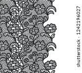 seamless lace border. vector... | Shutterstock .eps vector #1242196027