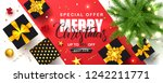 merry christmas sale poster... | Shutterstock .eps vector #1242211771