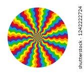 abstract multicolored circular... | Shutterstock .eps vector #1242222724