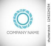 letter o logo design template.... | Shutterstock .eps vector #1242224254