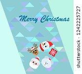 christmas card  santa snowman... | Shutterstock .eps vector #1242225727