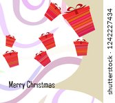 christmas card  gifts  vector... | Shutterstock .eps vector #1242227434