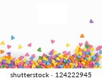 Colorful Hearts Confetti On...