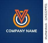 letter v logo design template.... | Shutterstock .eps vector #1242229951