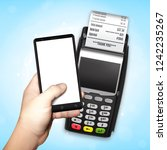 mobile payment trough pos... | Shutterstock .eps vector #1242235267