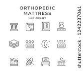 set line icons of orthopedic... | Shutterstock .eps vector #1242237061