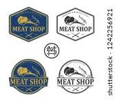 meat shop vintage logo | Shutterstock .eps vector #1242256921