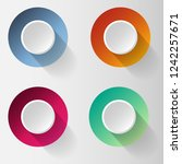 abstract colorful buttons | Shutterstock .eps vector #1242257671