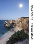 marinha beach  algarve  portugal | Shutterstock . vector #124225939