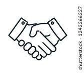 handshake thin line icon design ...   Shutterstock .eps vector #1242266227