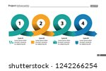 four points process chart slide ... | Shutterstock .eps vector #1242266254