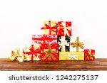 minimalistic festive... | Shutterstock . vector #1242275137