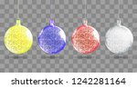 shiny christmas ball. realistic ... | Shutterstock .eps vector #1242281164