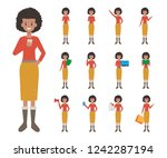 business american woman... | Shutterstock .eps vector #1242287194