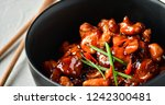 spicy chicken in sweet and sour ... | Shutterstock . vector #1242300481
