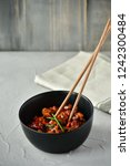 spicy chicken in sweet and sour ...   Shutterstock . vector #1242300484
