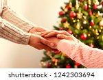 elderly woman celebrating... | Shutterstock . vector #1242303694
