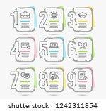 timeline infographic. set of... | Shutterstock .eps vector #1242311854