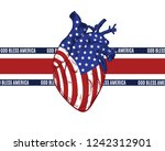 god bless america. vector hand... | Shutterstock .eps vector #1242312901