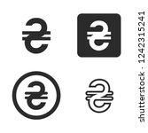 ukrainian hryvnia currency... | Shutterstock .eps vector #1242315241