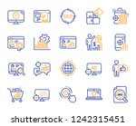 seo line icons. set of increase ... | Shutterstock .eps vector #1242315451