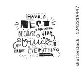 have a rest because your truck... | Shutterstock .eps vector #1242319447