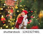 winter lifestyle fashion...   Shutterstock . vector #1242327481