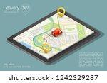 isometry city map navigation... | Shutterstock . vector #1242329287