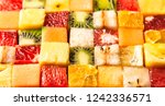 fruit cube on white background | Shutterstock . vector #1242336571