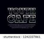 silver logo with text youth... | Shutterstock .eps vector #1242337861