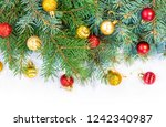 christmas background. happy new ... | Shutterstock . vector #1242340987