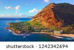 western coast of the island of... | Shutterstock . vector #1242342694
