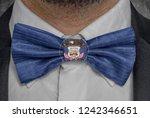 flag of utah on bowtie business ...   Shutterstock . vector #1242346651