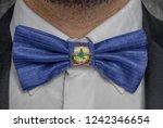 flag of vermont on bowtie...   Shutterstock . vector #1242346654