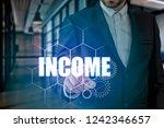 businessman hand touching...   Shutterstock . vector #1242346657