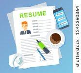 resume of potential employee.... | Shutterstock . vector #1242360364