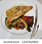 roasted chicken and vegetables | Shutterstock . vector #1242364801