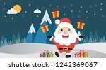 santa claus with gifts on... | Shutterstock .eps vector #1242369067