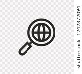 outline search icon. vector...