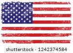 vintage american flag... | Shutterstock .eps vector #1242374584